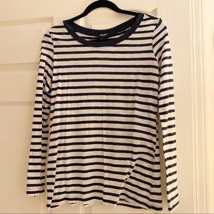 Splendid Long Sleeve T-Shirt w/ Button Back